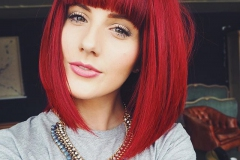 Kızıl Renk Saç Modelleri 29