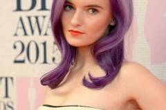 Mor Renk Saç Modeli 10