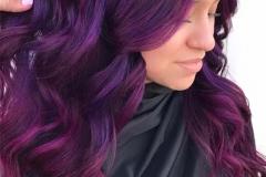 Mor Renk Saç Modeli 23