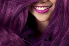 Mor Renk Saç Modeli 25