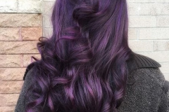 Mor Renk Saç Modeli 26