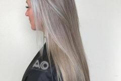 Platin Renk Saç Modelleri 9